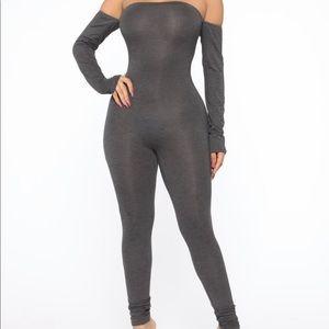 Charcoal bodysuit